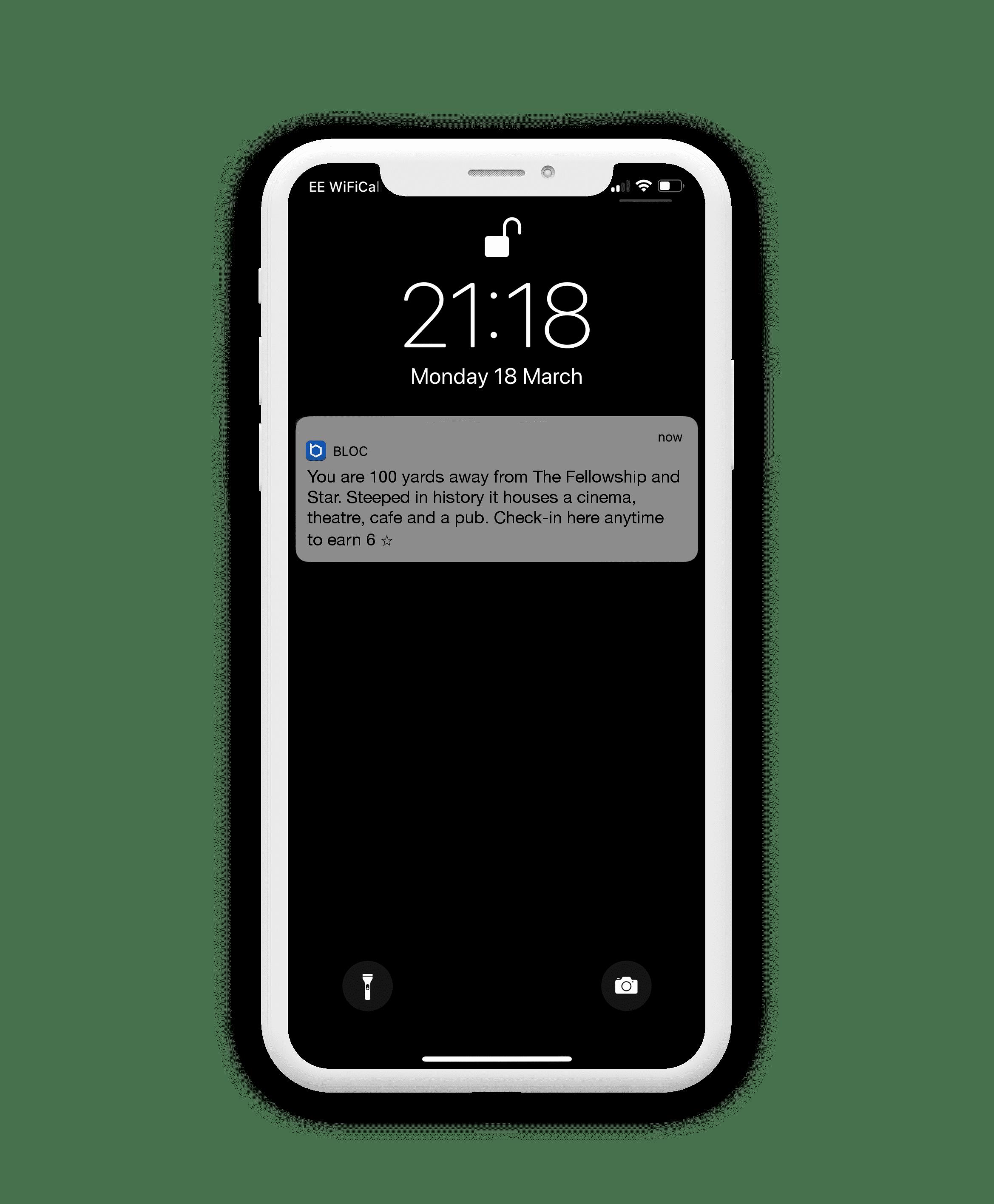 Bloc's 100 yard notification
