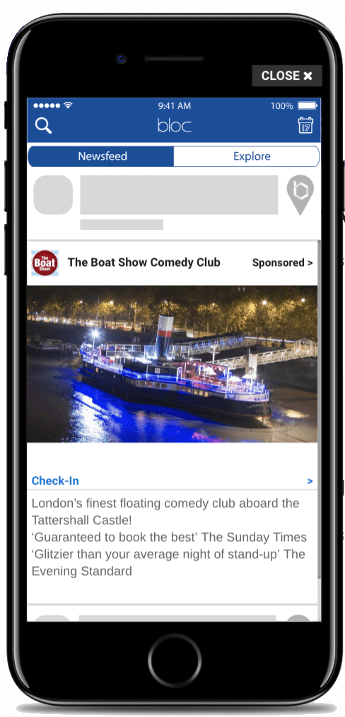 The Comedy Boatshow Aboard Tattershall Castle Ad