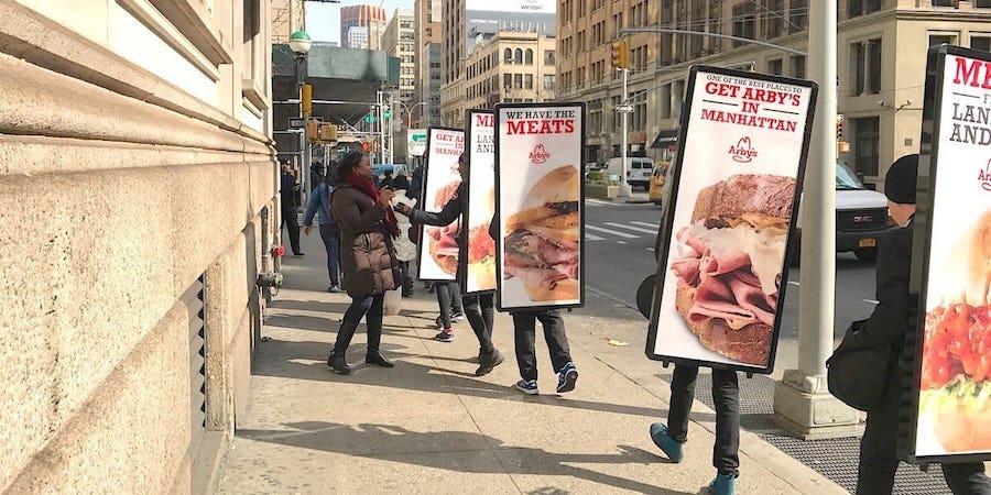 Restaurant marketing street team