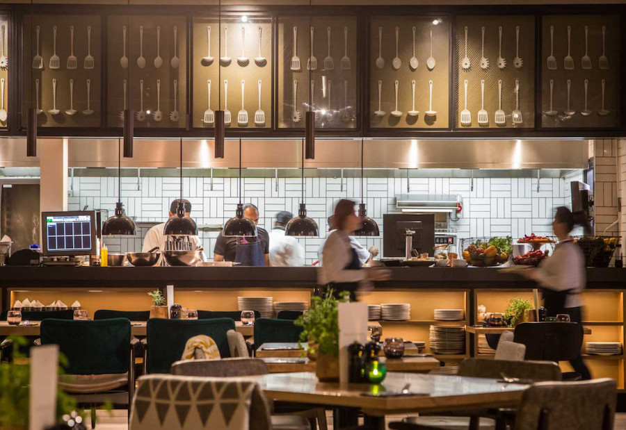 Restaurant marketing open kitchen