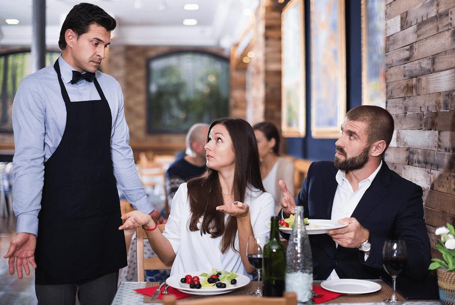 Restaurant bad customer experience