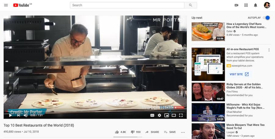 Video ideas for restaurants