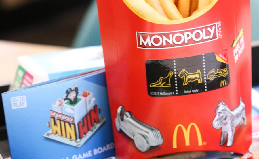 McDonalds Monopoly game for gamification