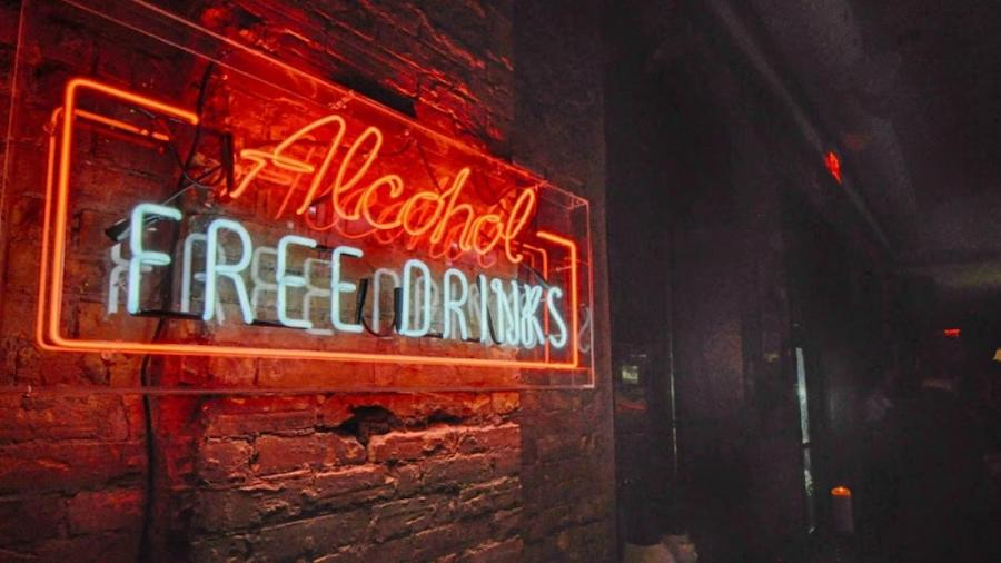Alcohol-free bar