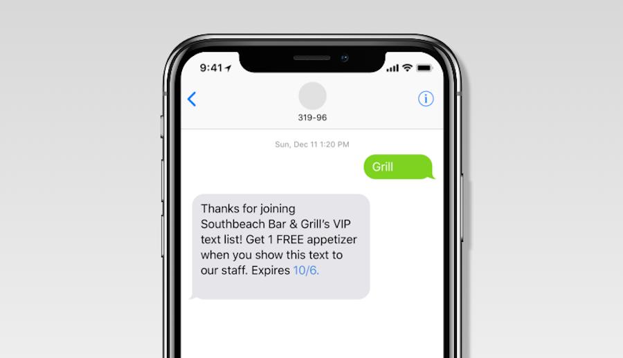 Bar SMS marketing