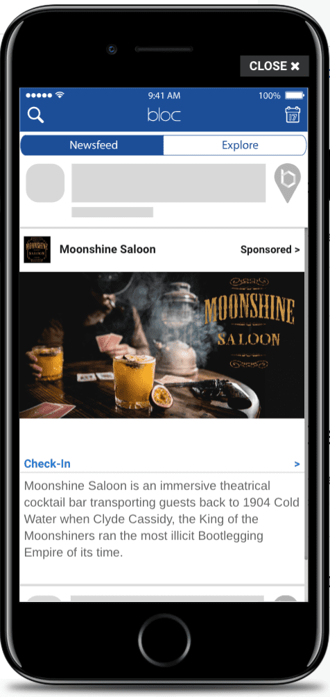 Moonshine Saloon Bloc Advert