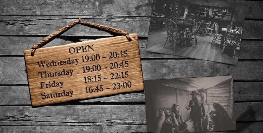 Moonshine Saloon Opening Times