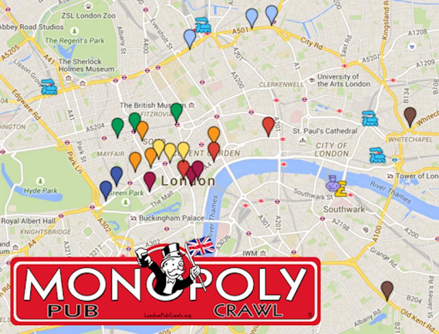 Monopoly bar crawl