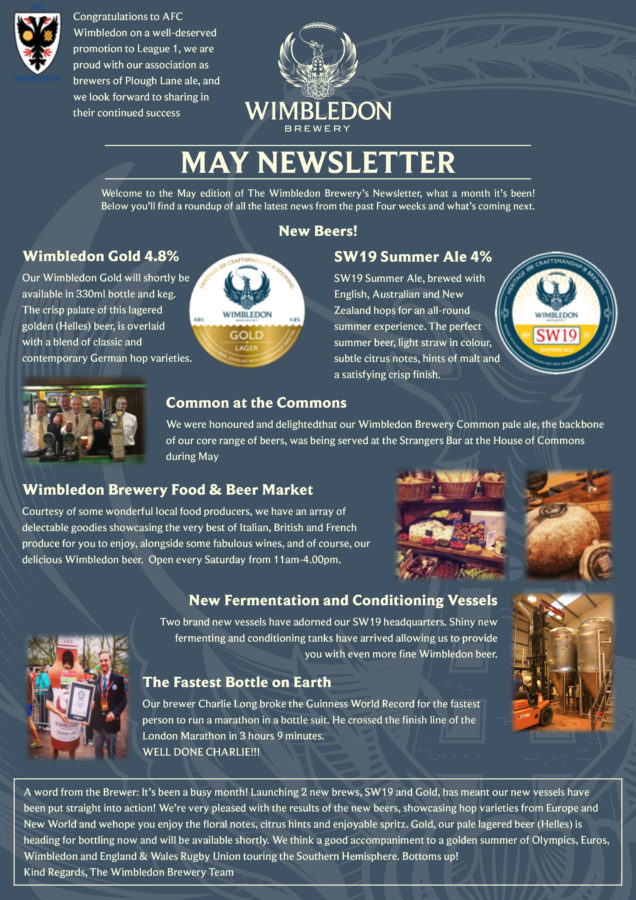 Brewery Newsletter