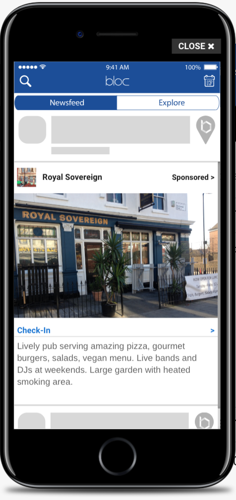 The Royal Sovereign Pub Newsfeed Ad