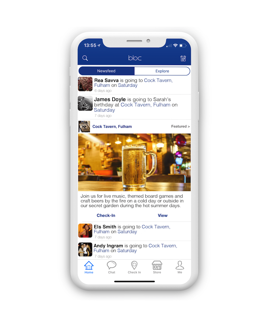 Bloc Newsfeed Ad Helps Venues Get More Customers
