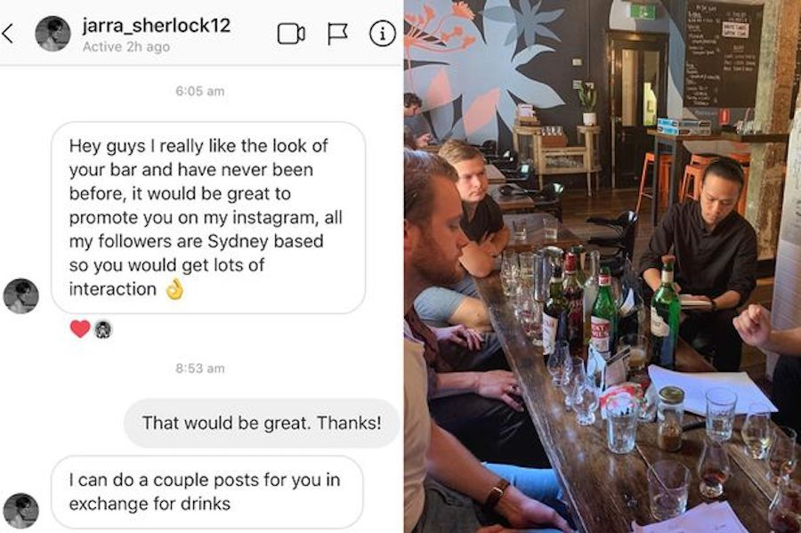 Bar marketing strategy for social proof