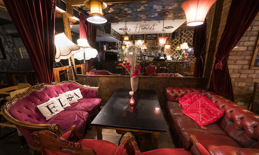Beautiful interior of bar in London
