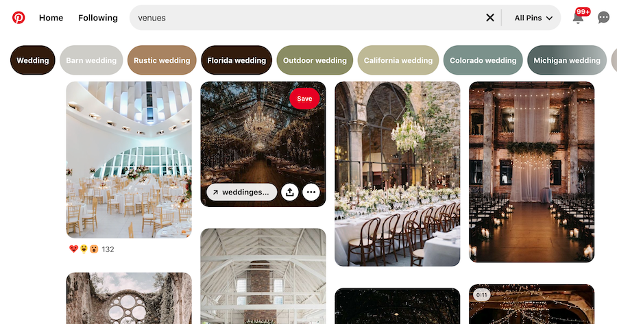 Pinterest venue marketing strategy