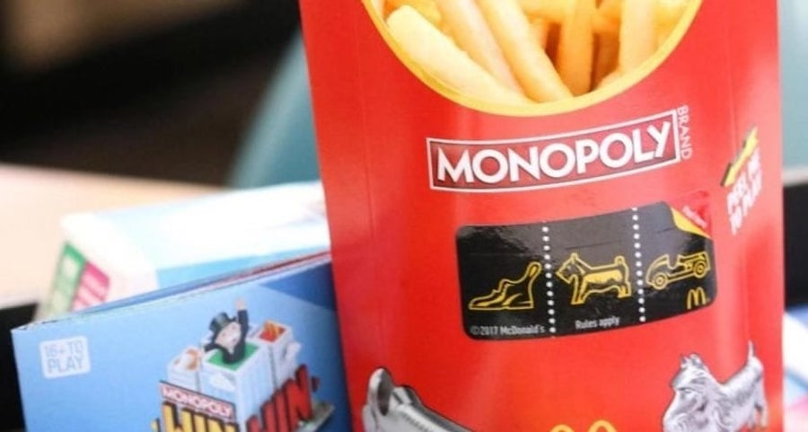 McDonalds Monopoly game for marketing