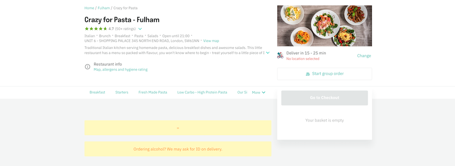 Ghost kitchen marketing plan for Deliveroo