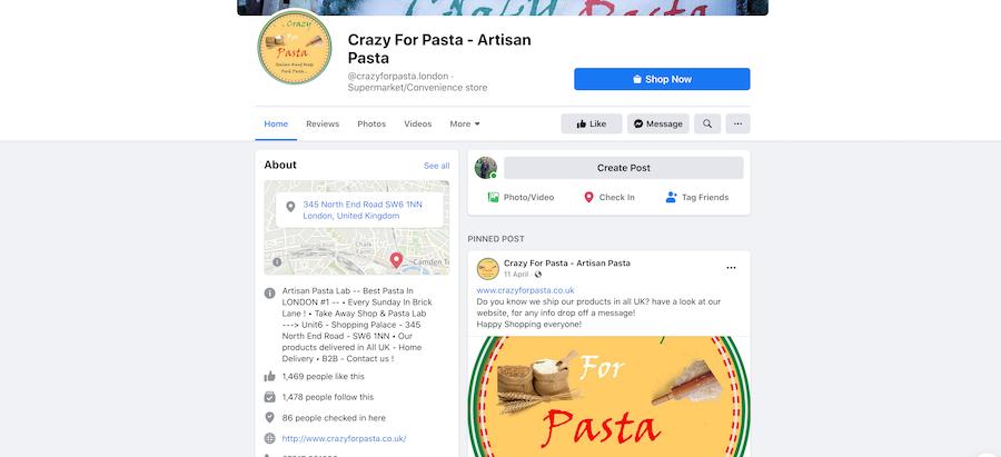 Social media marketing for ghost kitchens