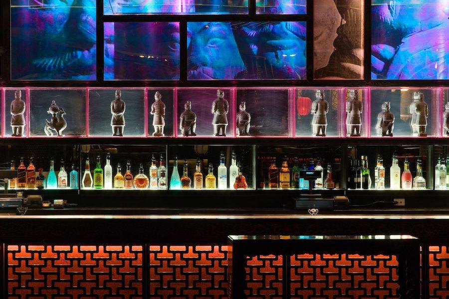 Nightclub back bar