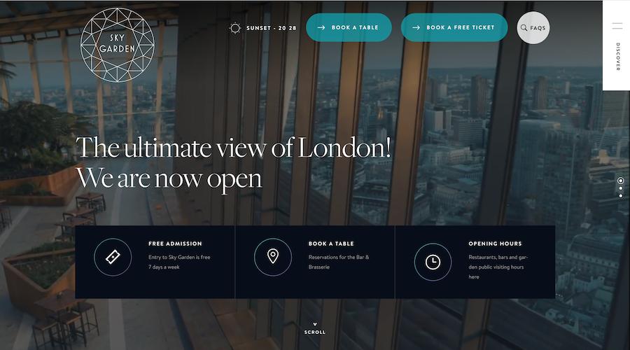 A perfect website for a venue