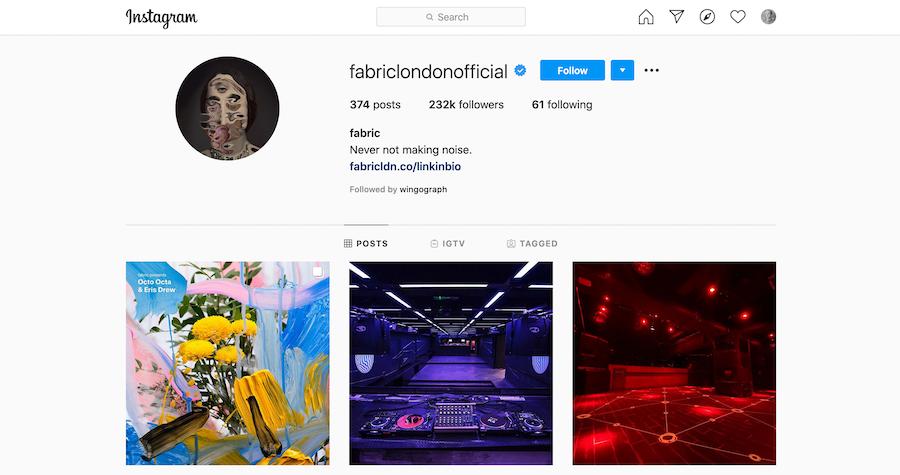Fabric Instagram