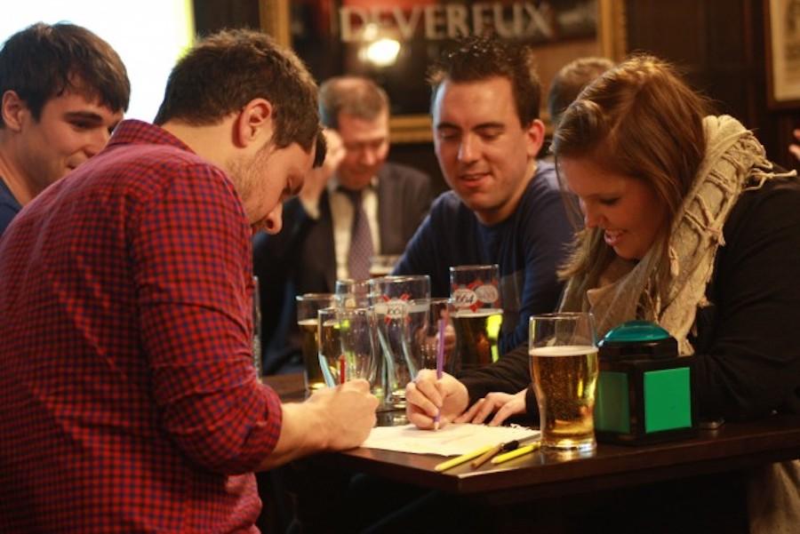Quiz night in a pub