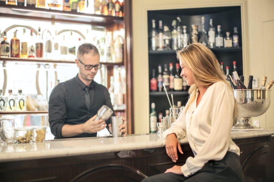 Bar customer service