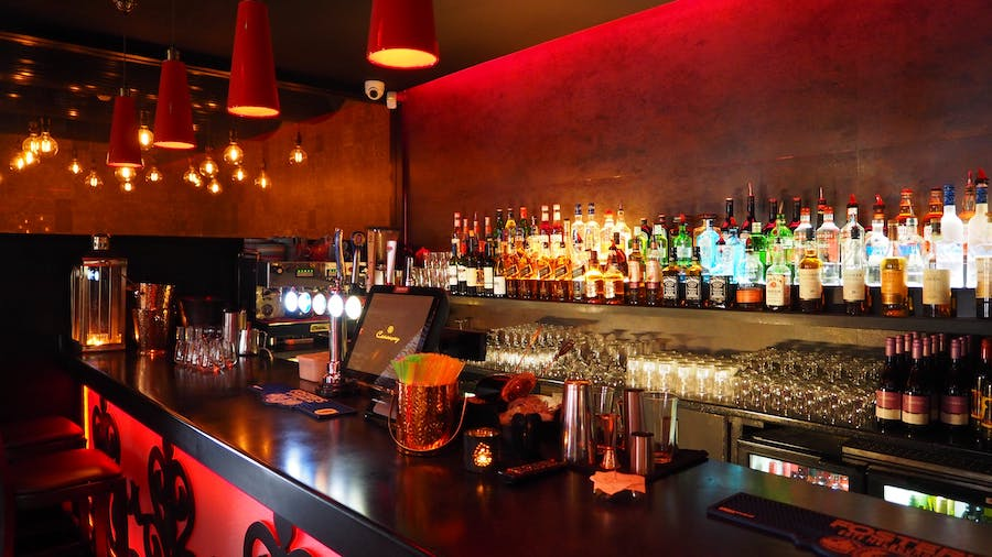 Cool bar interior