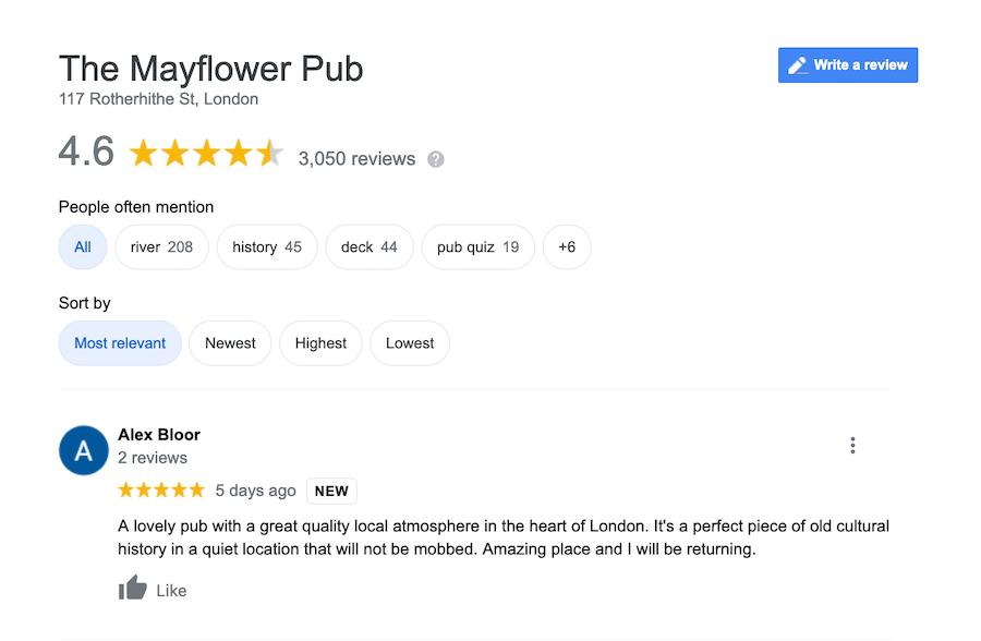 Pub review