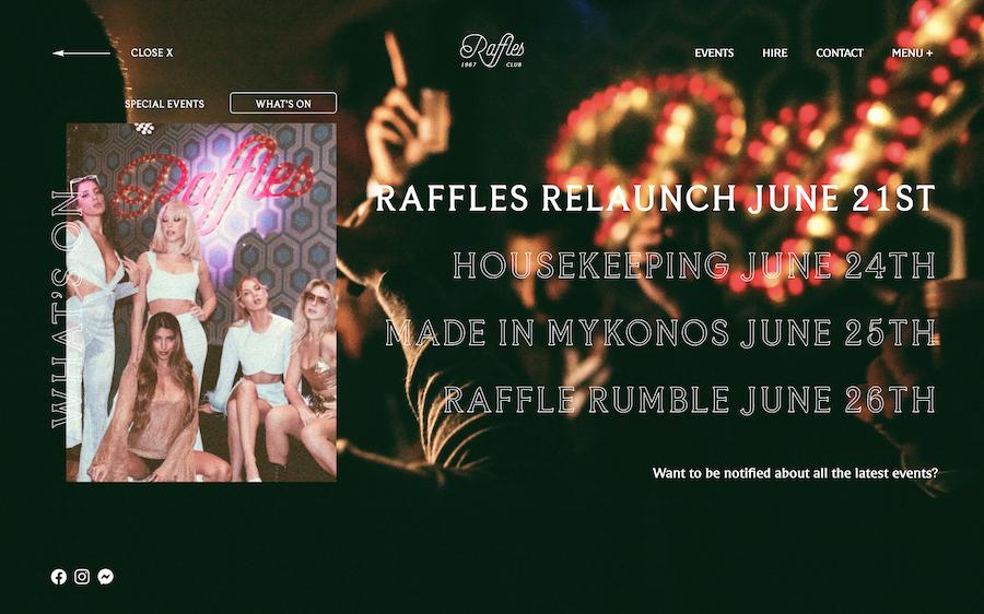 Raffles Nightclub in London