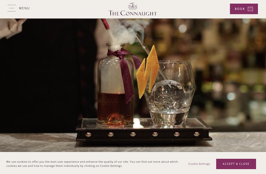 Connaught bar website