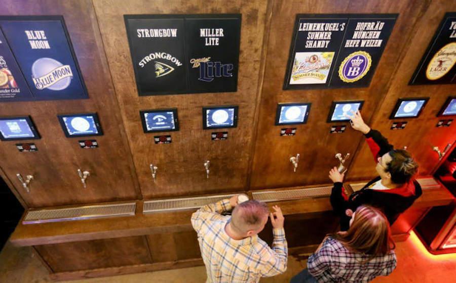Self service beer taps